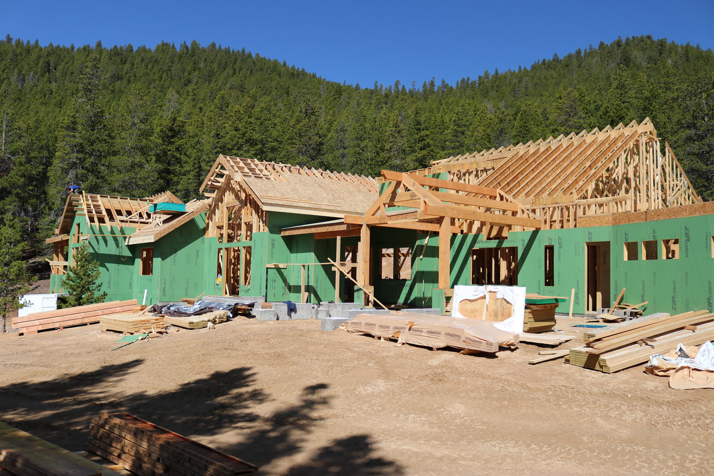 Roof framing is happening!