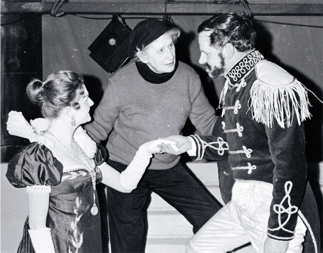 Dame Ngaio Marsh Directing Hamlet Performed at the Civic Theatre (11 July 1958)   [Christchurch City Libraries: CCL PhotoCD 17, IMG0039]