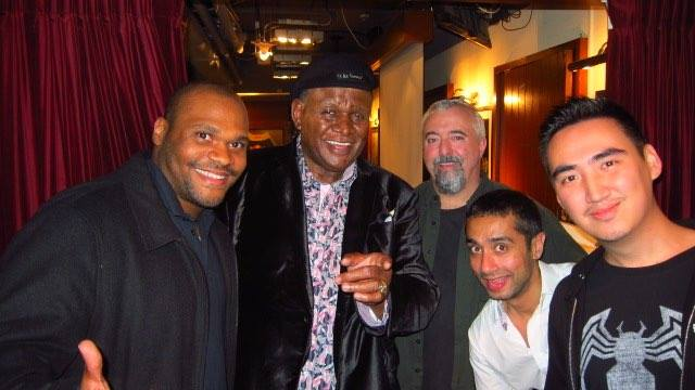 With the legendary George Wallace. An entire family of NFL players, the comic probably chose the best path.