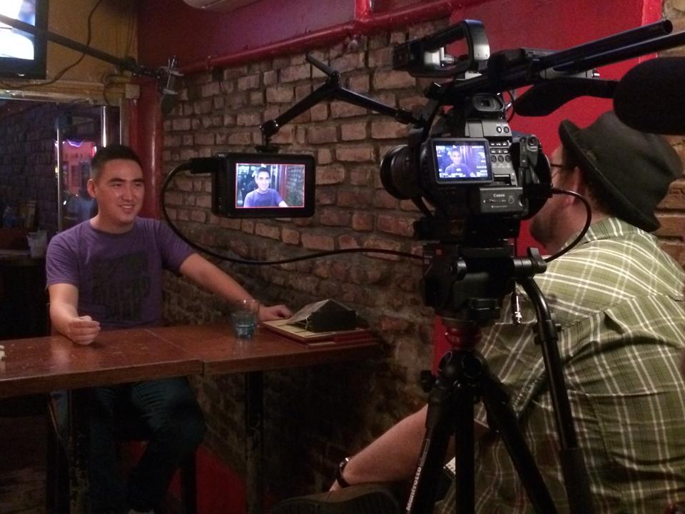 Filming a comedy documentary with Josh Weinstein and the guys from ACME Comedy