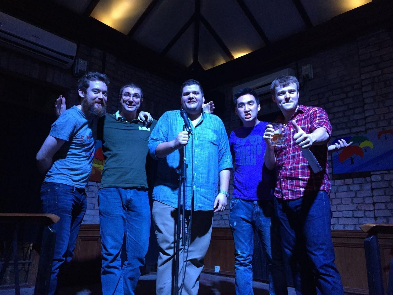 Killer Myanmar debut at 50th Street Bar, Yangon withgreat friends and amazing comedians, Sam Moorhouse, Ryan Hynek, William Childress, and Sean Hebert
