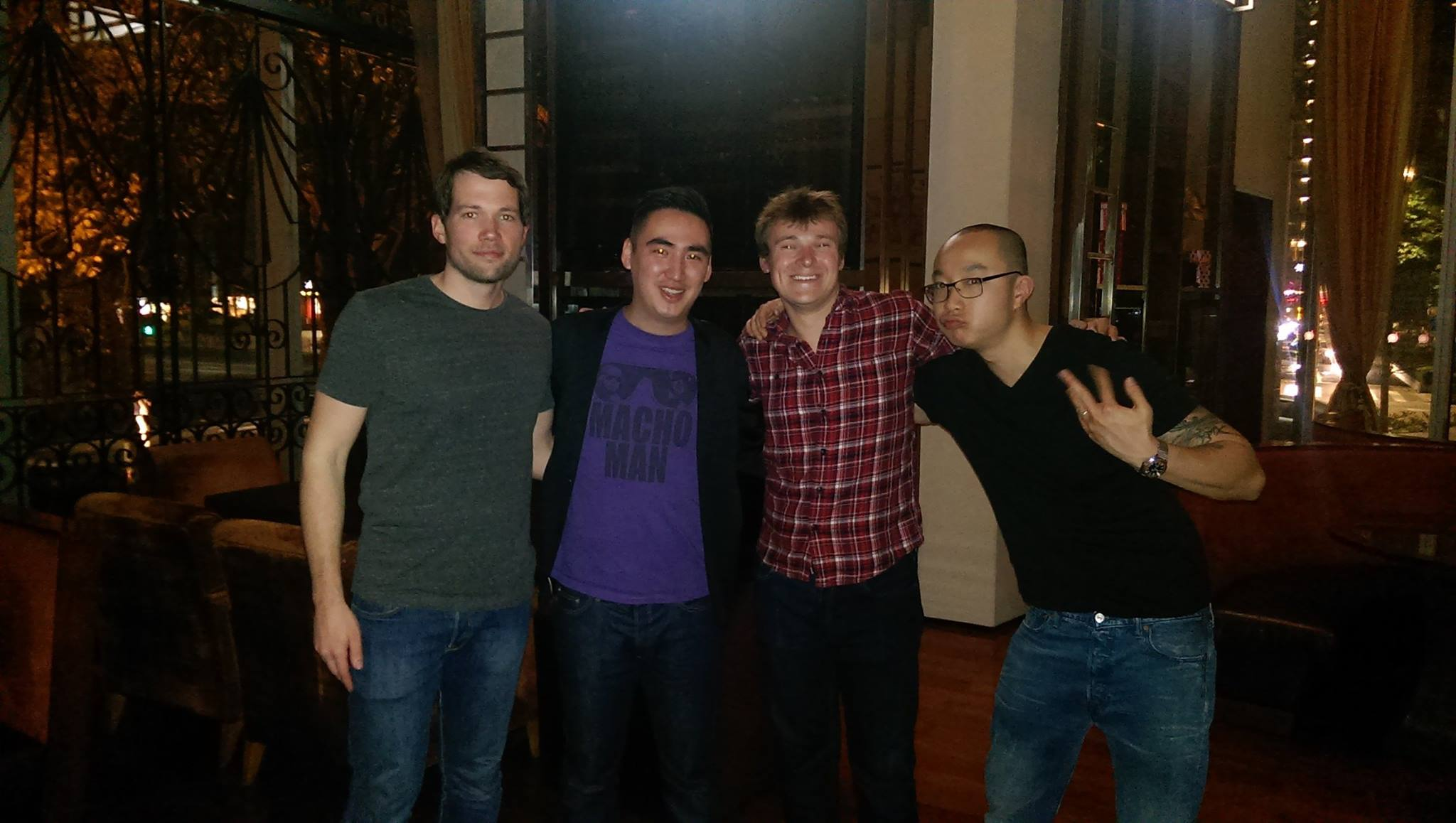 Debut in Guangzhou after filming an episode of the (possibly Government propoganda laden) show China Chats with Paul Johnson, Sean Hebert and Tamby Chan