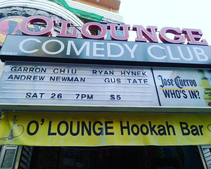 On the marquee baby