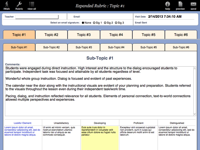 Expanded Rubric  is a 6 topic, 6 sub-topic, 10 element rubric that provides you with a 360 element based rubric tool. A perfect solution for school evaluation rubrics.
