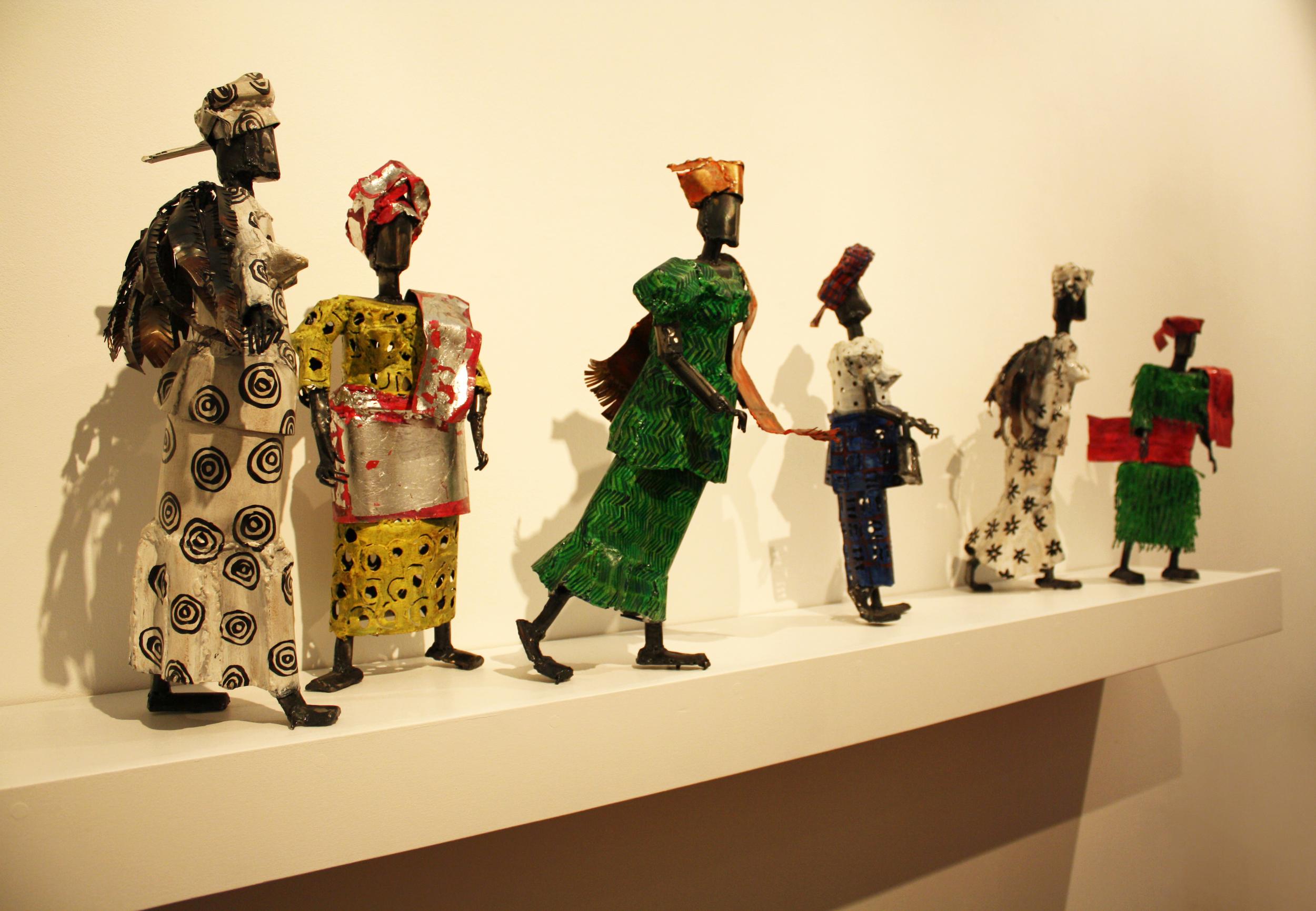 Walworth Ladies  by    Sokari Douglas Camp