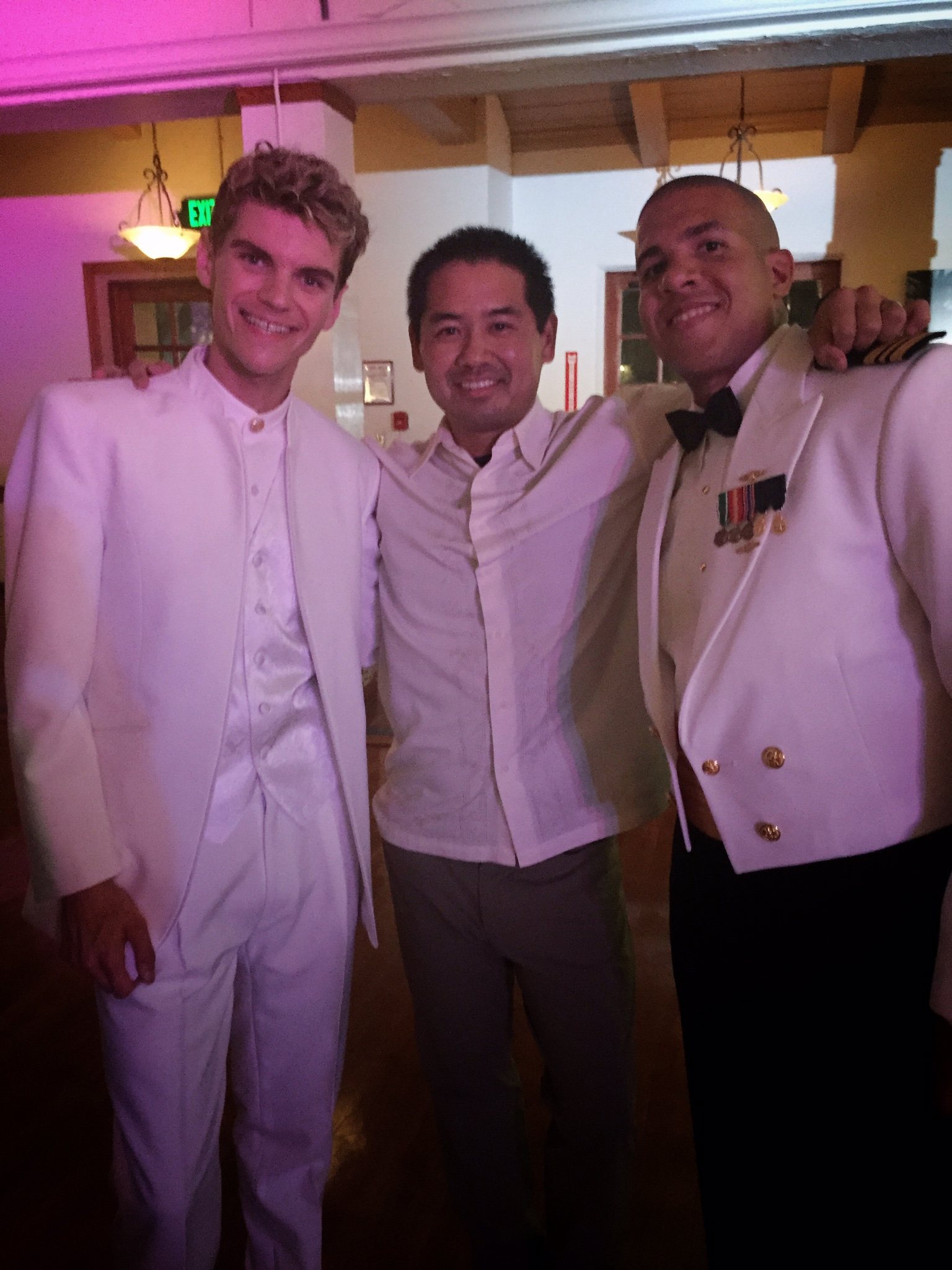 Successful end to a Tuesday night wedding at MCRD in San Diego with these two grooms. Congratulations Joshua and Jonathan.