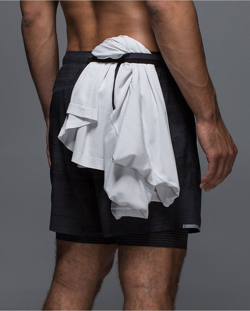 Take off your shirt and tuck it in the specially-designed waistband loop.