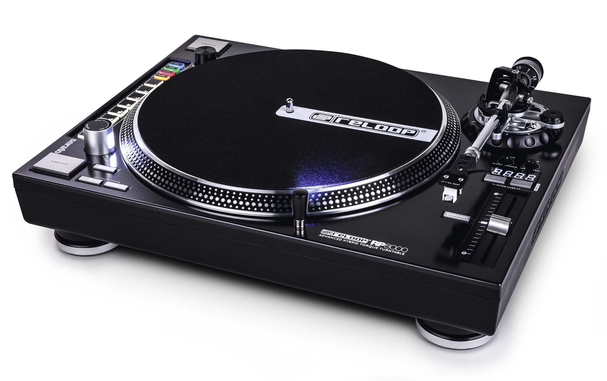 The Reloop RP-8000 turntable, with it's MIDI functionality, adjustable torque and a host of other features is part of a new breed of DJ turntables.
