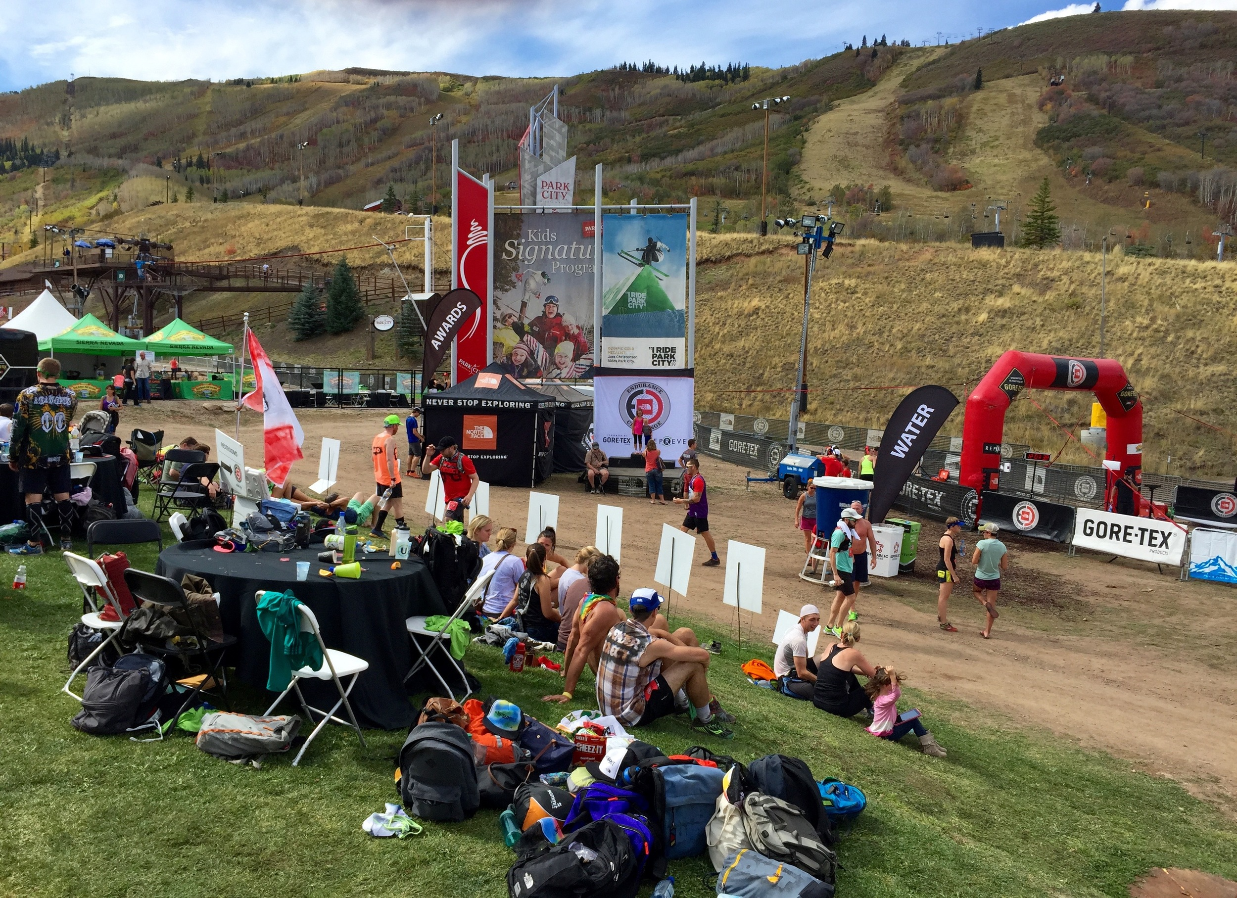 The starting area for the North Face Endurance Challenge Series - Utah.