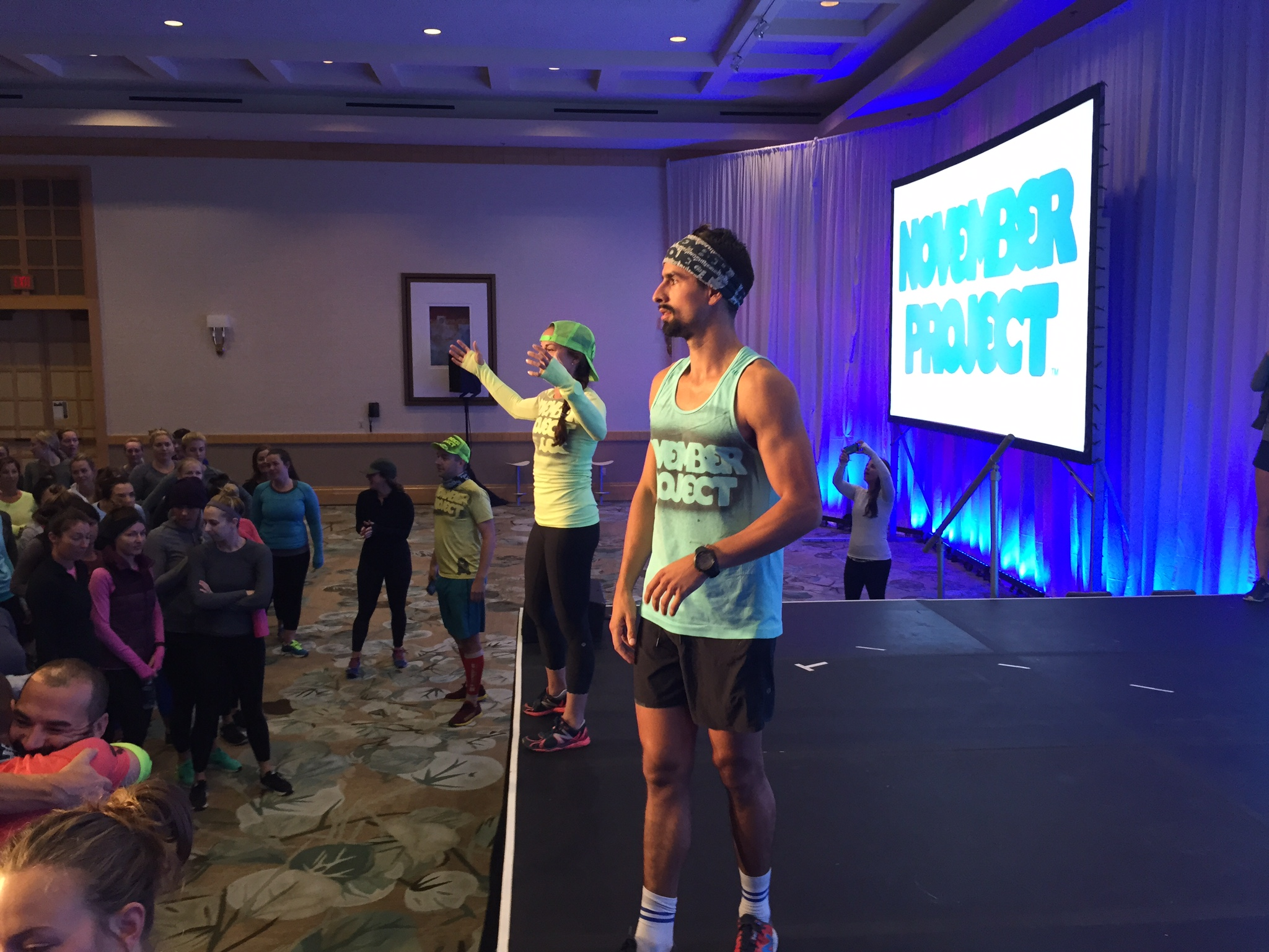 November Project - San Diego co-leaders and Lululemon Ambassadors, Lauren Padula and Angelo Neroni led a workout of more than 400 on Wednesday morning.