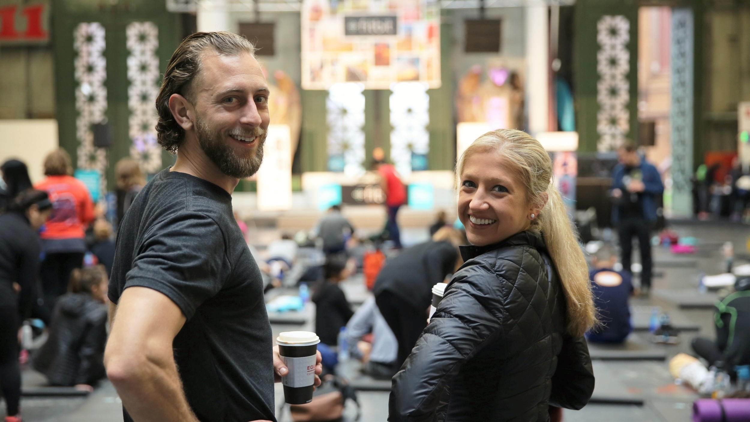 Jeremy Falk and Caroline Jordan are the Fitbit Local ambassadors in San Francisco.