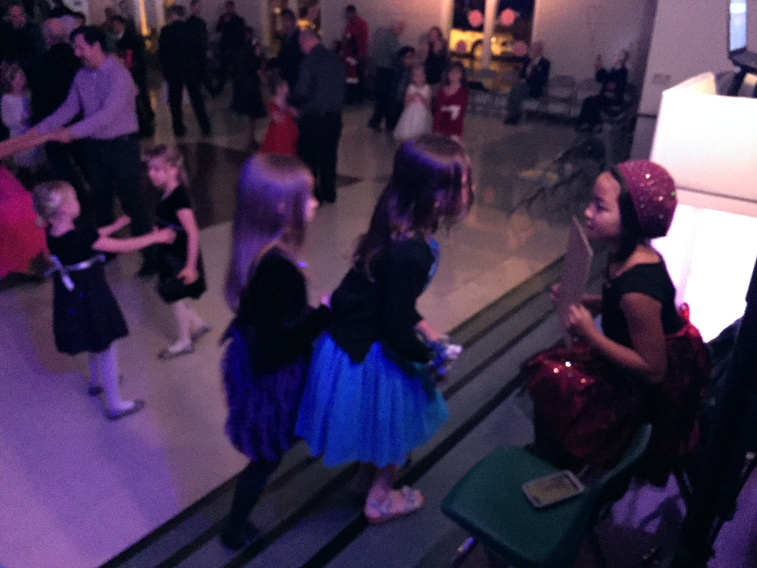 Marissa takes request at the Reidy Creek Elementary School Father/Daughter dance.