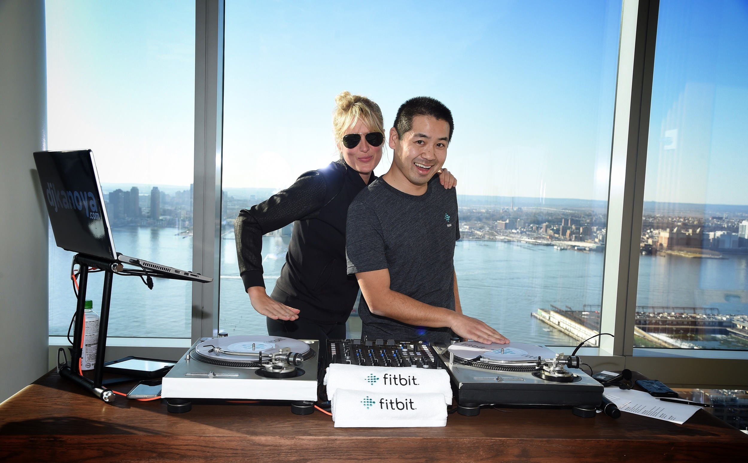 Celebrity stylist Anita Patrickson took a shot at DJing during the launch event for Fitbit Alta.