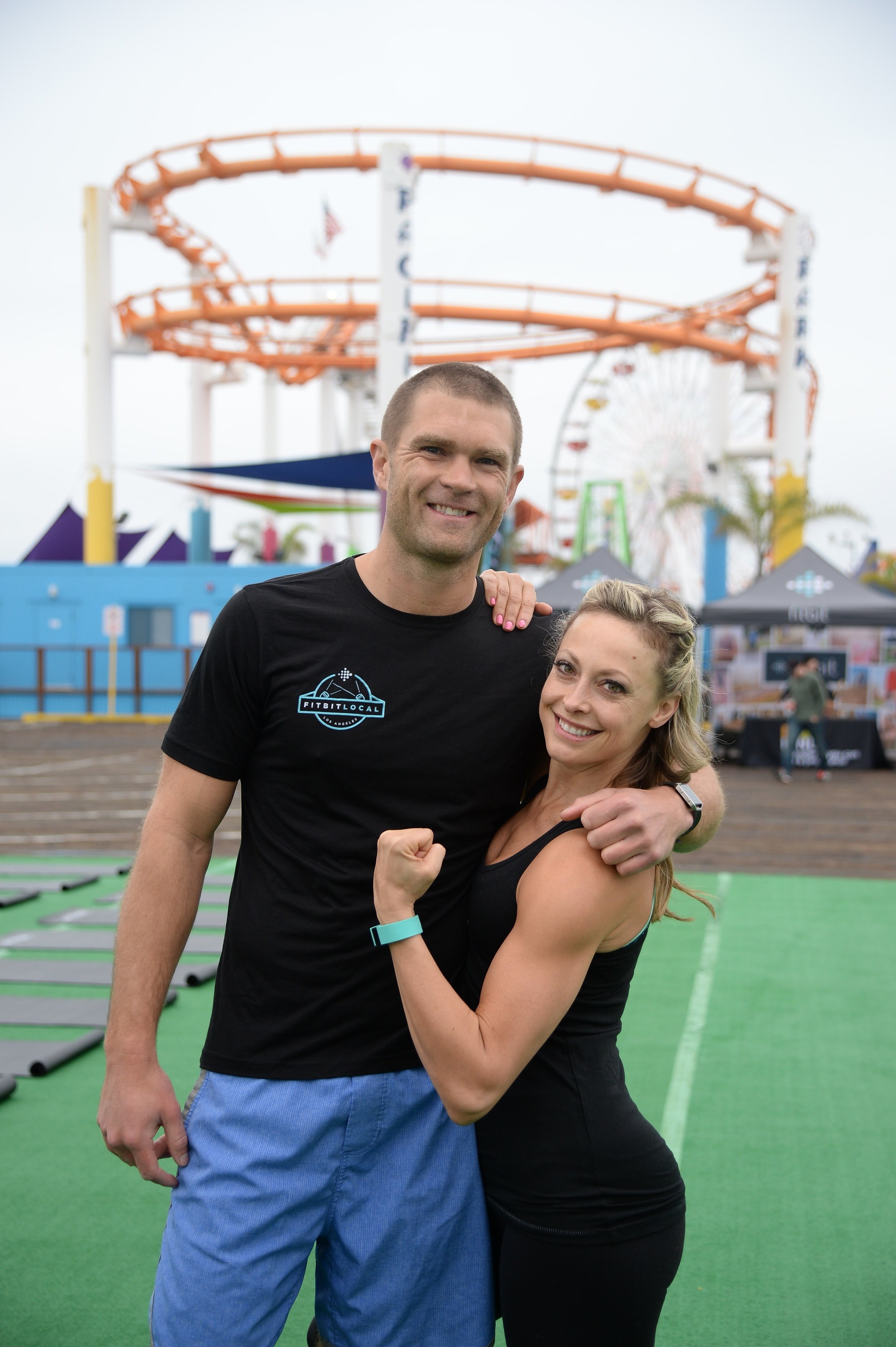 Fitbit Los Angeles ambassadors, Todd McCullough and Elise Joan.