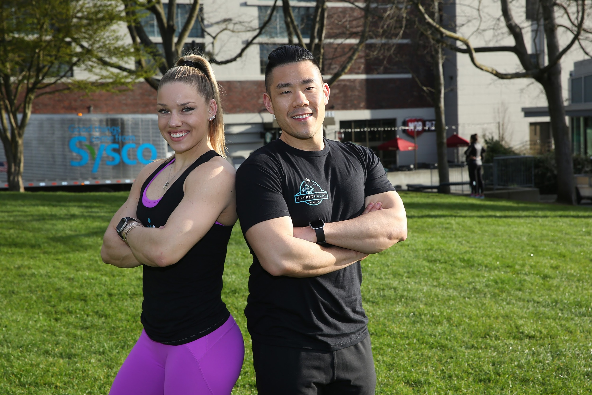 Fitbit Local Seattle ambassadors, Kaisa Keranen and Kevin N
