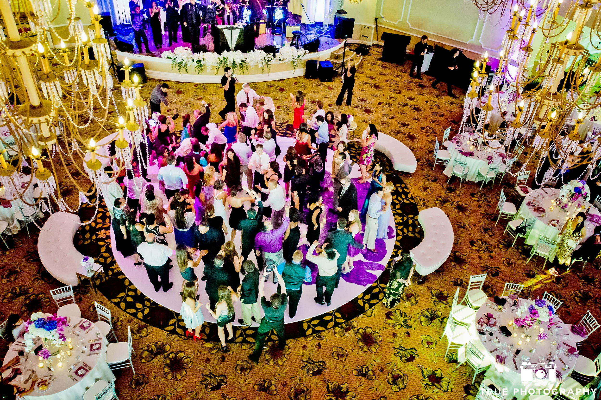 The size of the dance floor plays an important role in how the energy level will sustain during the wedding reception.