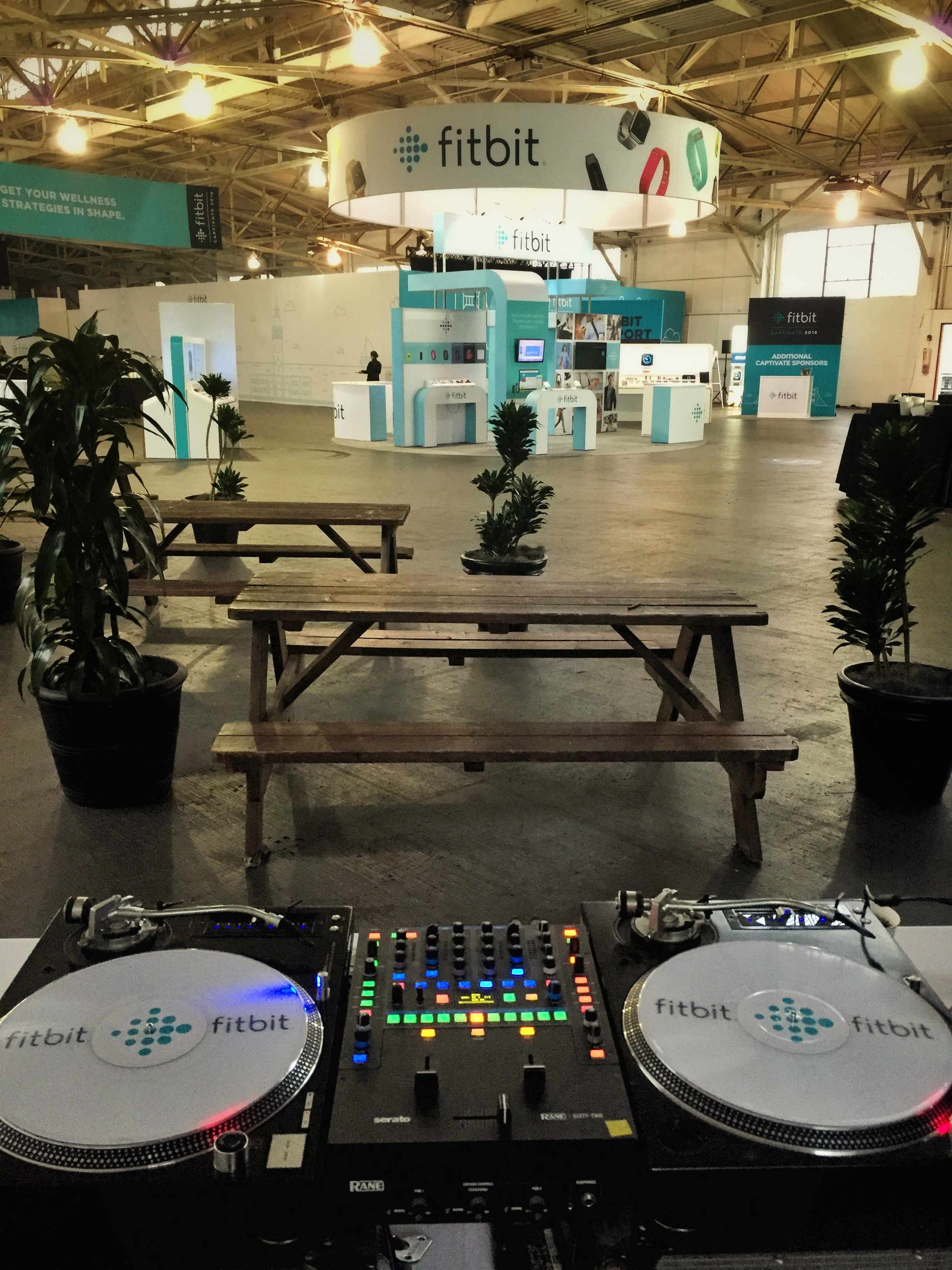 Custom Serato vinyl added the right touch for this Fitbit event.