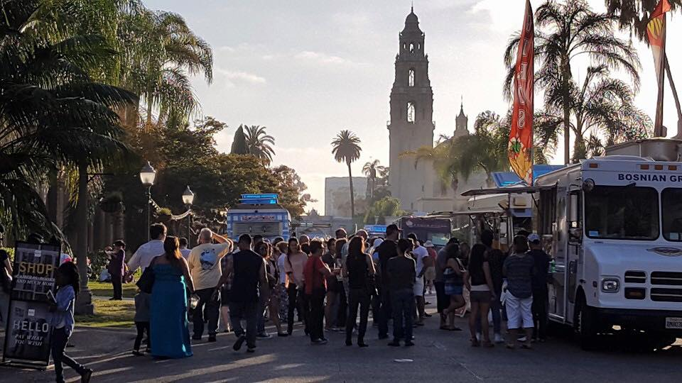 Food Truck Friday's at Balboa Park will happen throughout summer until September 2nd.