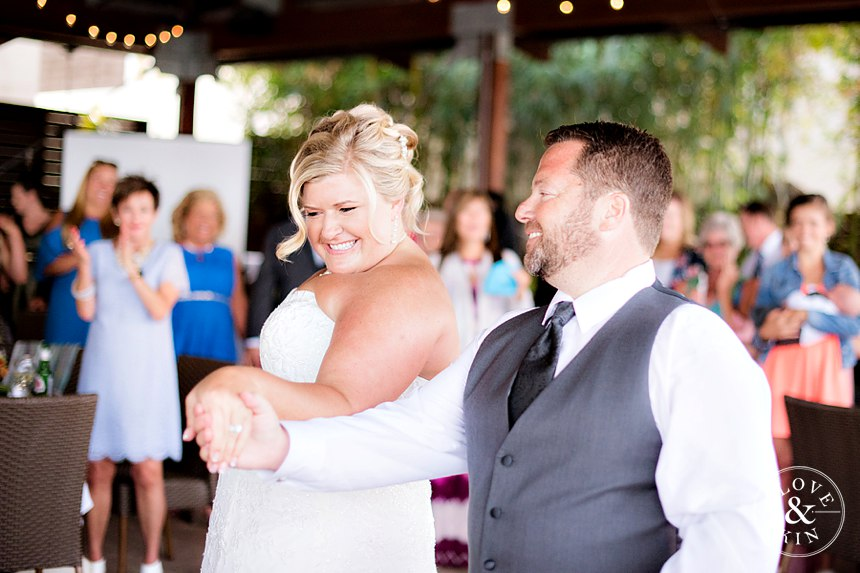 """Patrick and Kristen danced to Ray LaMontagne's """"You Are the Best Thing"""" for their first dance."""