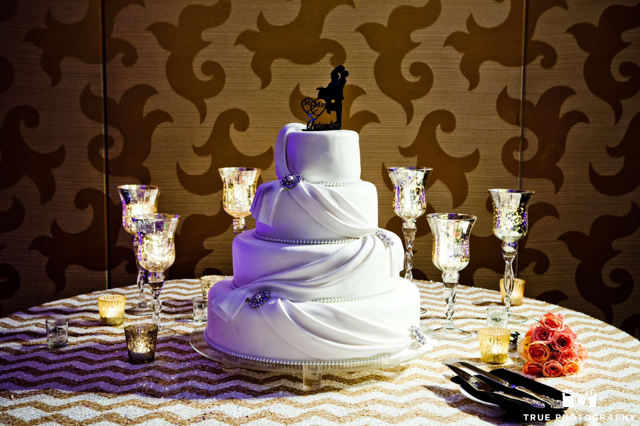 A wedding cake deserves to be highlighted and not just sit in a dark corner.