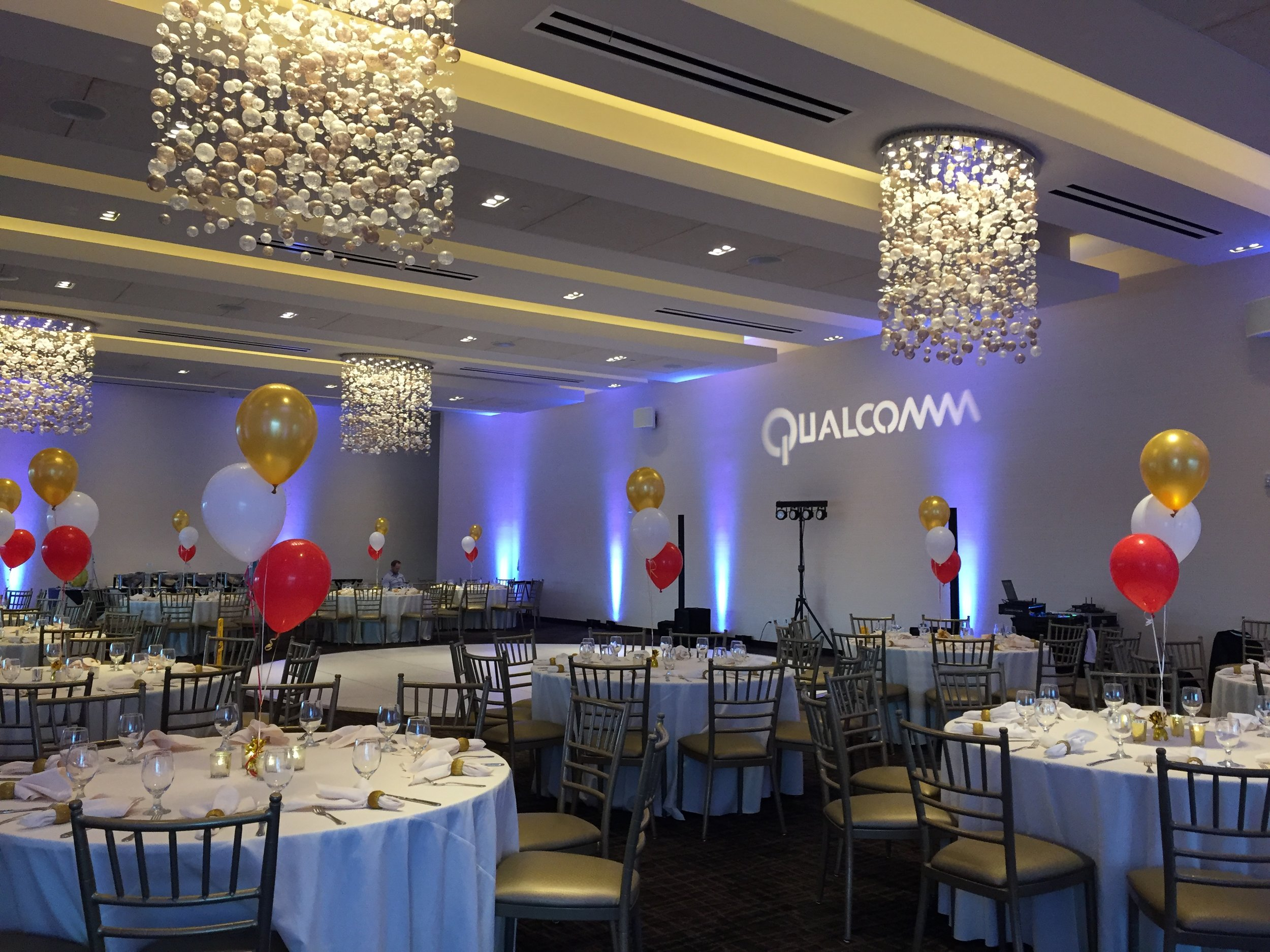 Coasterra was the venue for a holiday party attended by employees of Qualcomm.