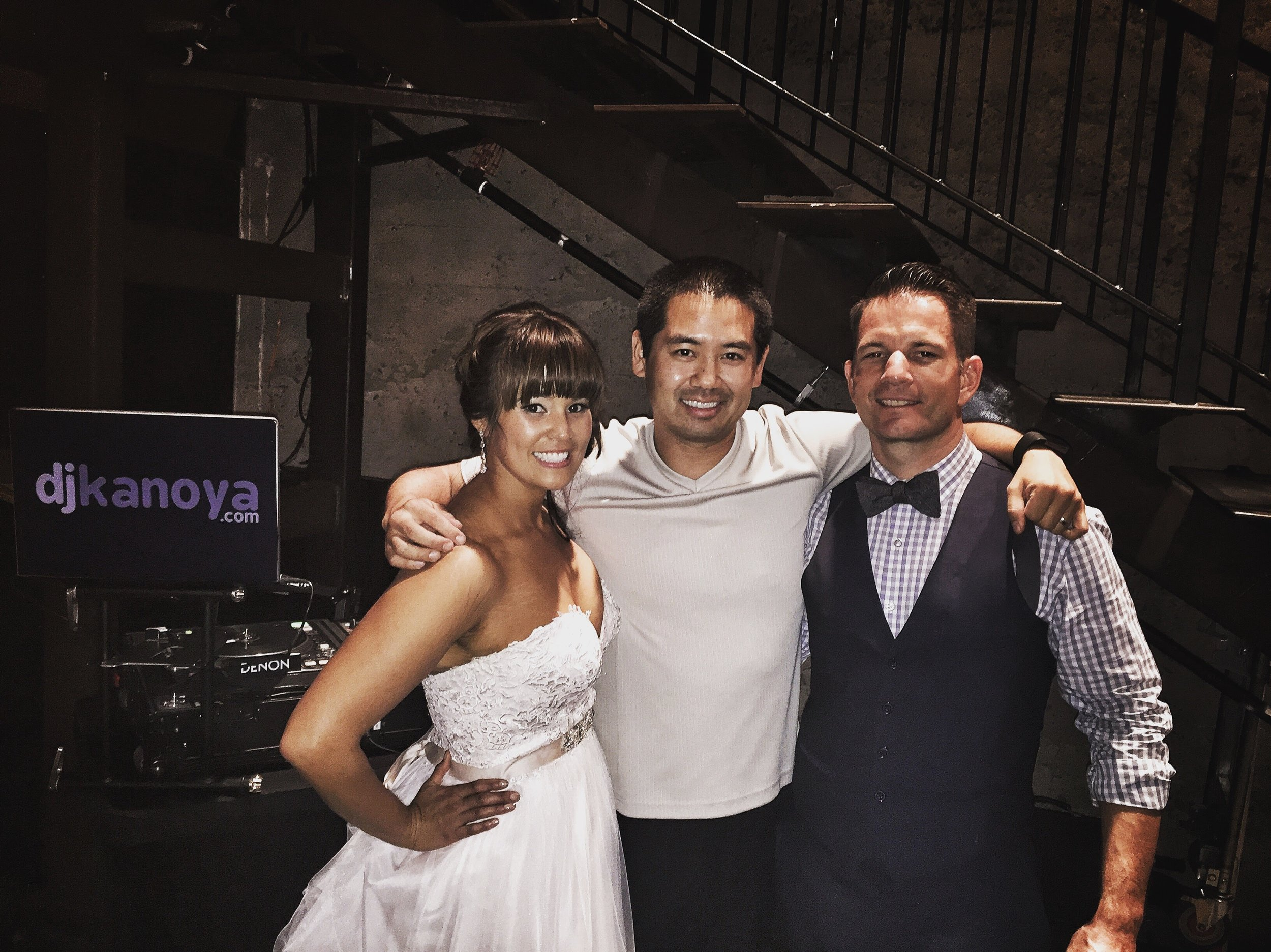 Erik and Melanie partied at Luce Loft in downtown San Diego on their wedding day.