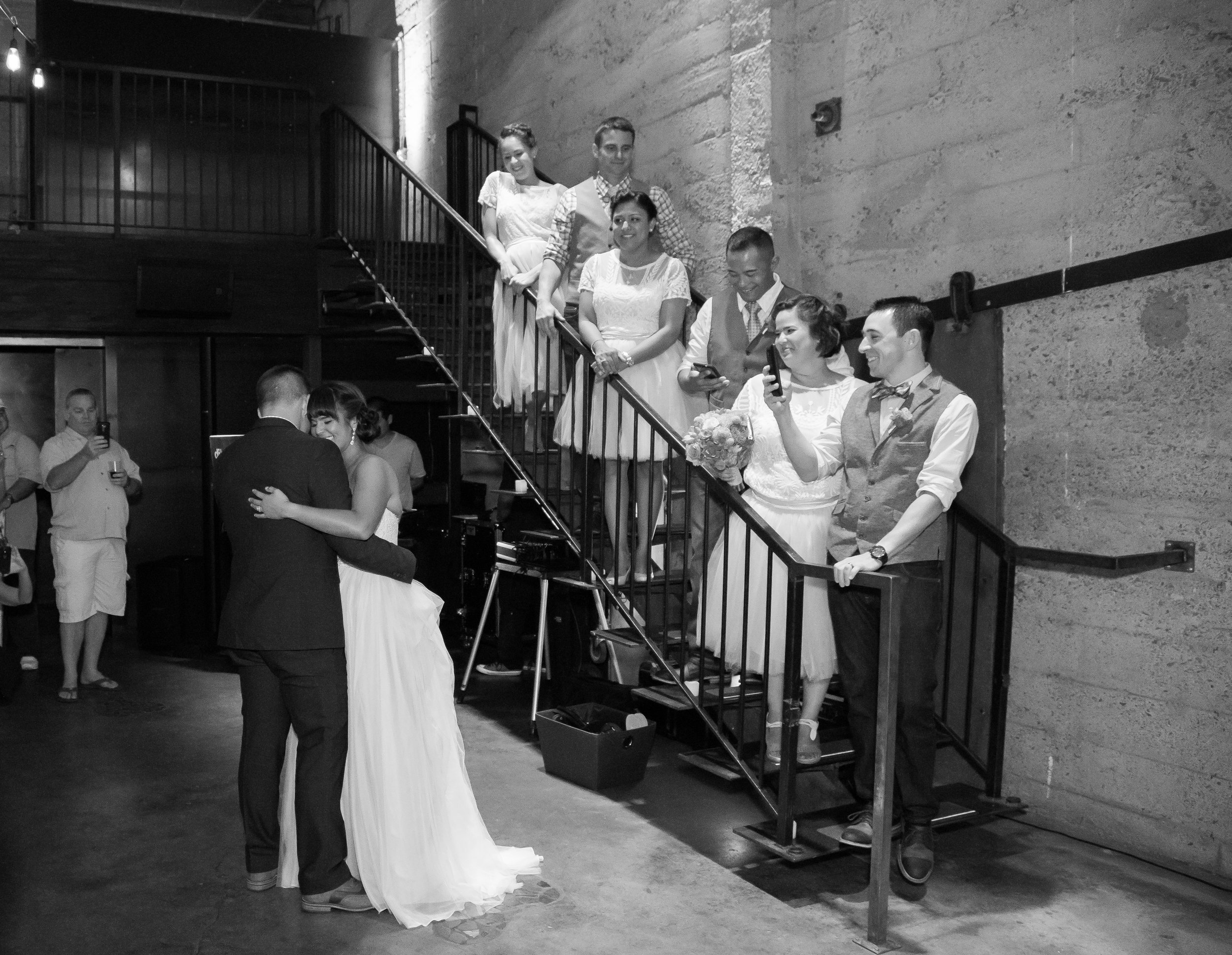 Erik and Melanie have their first dance as husband wife at their Luce Loft wedding.