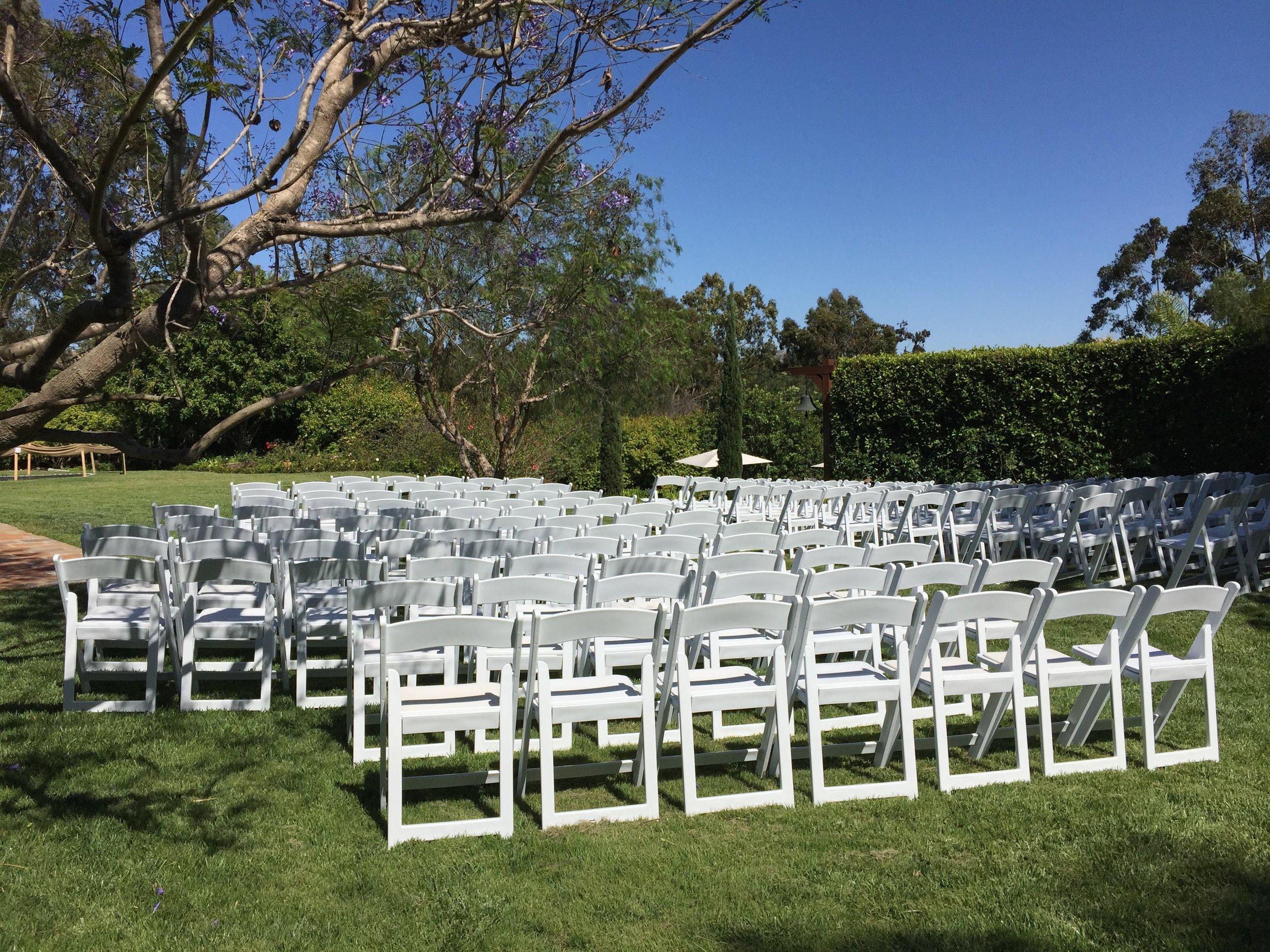 Wedding Ceremony Set-Up - Hidden Meadow