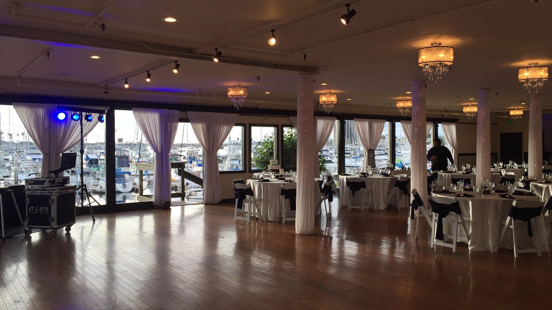 marina village wedding spinnaker room