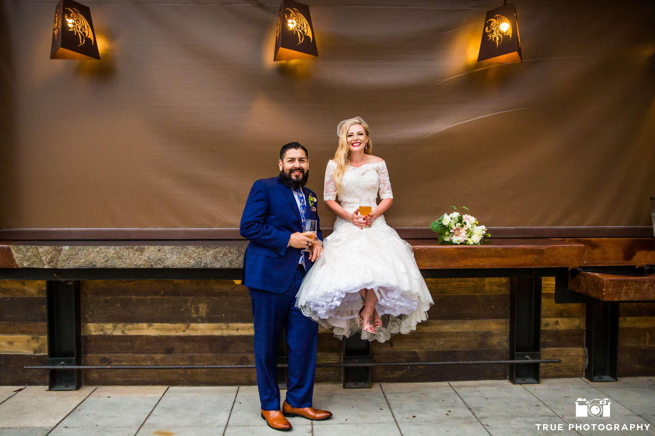 "Christina and Marco said ""cheers"" and ""I do"" with a fabulous wedding and dance party at Stone Brewery."