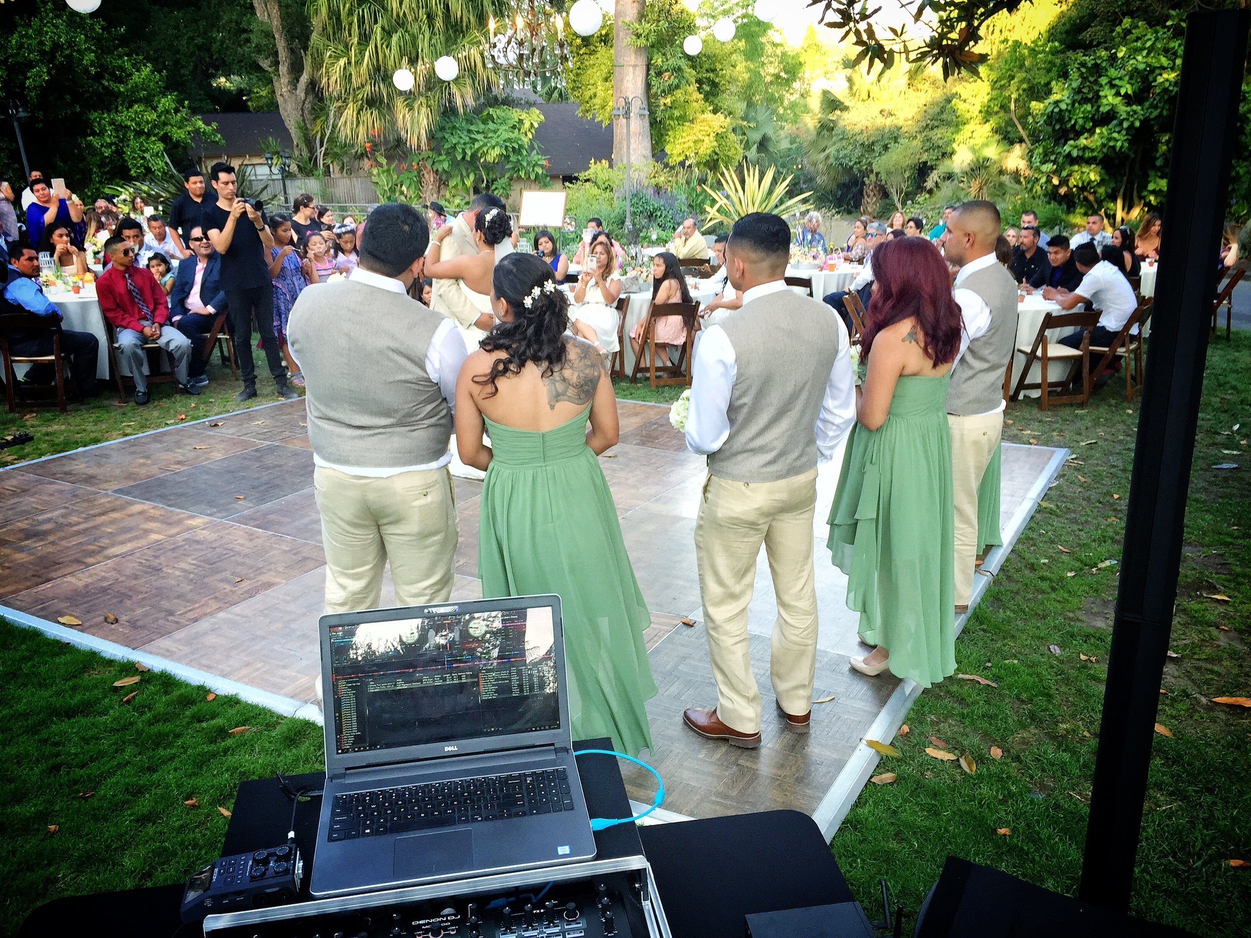 Laura and Juan's first dance at the San Diego Botanic Garden.