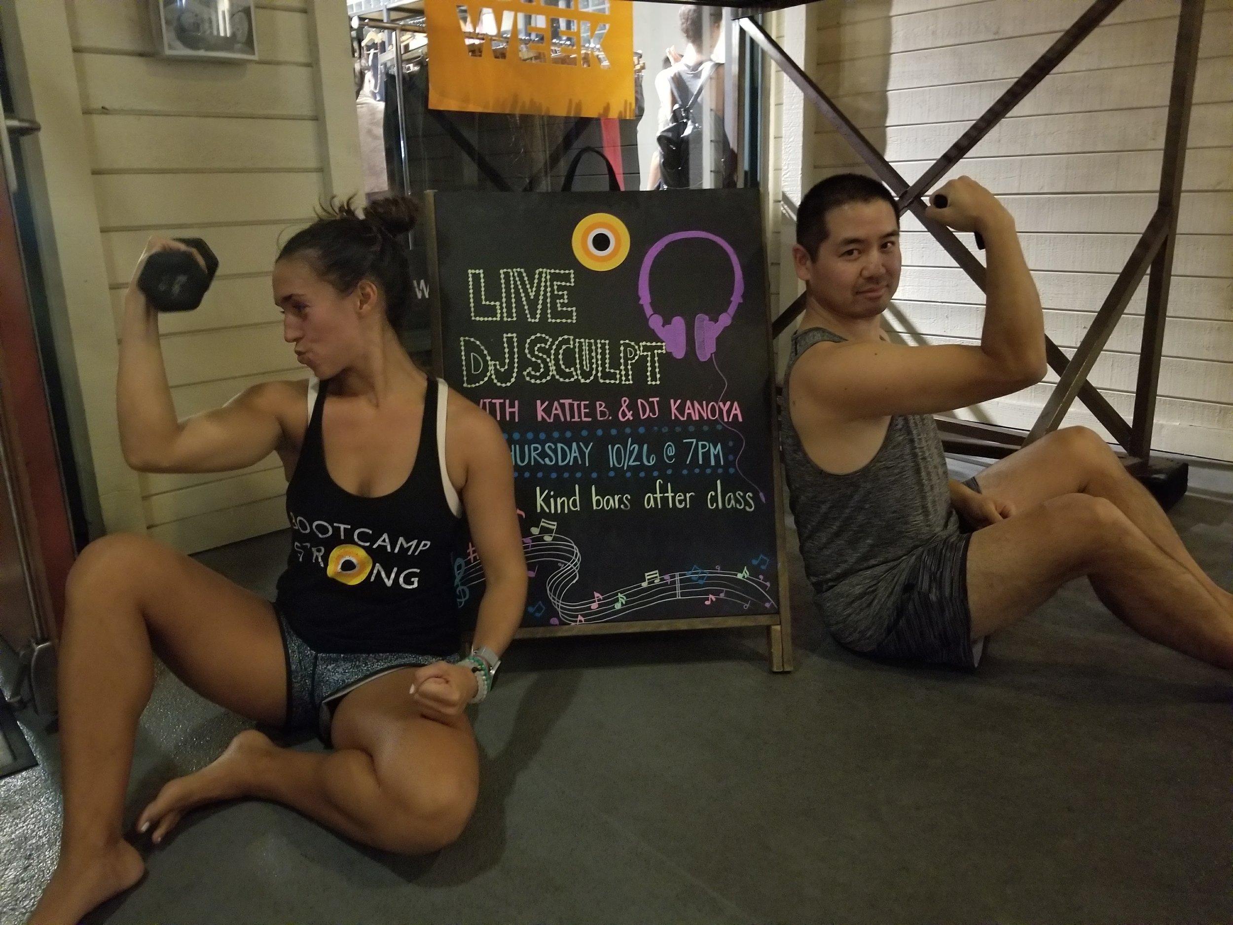 San Diego yoga teacher/DJ duo, Katie Burke and Justin Kanoya,