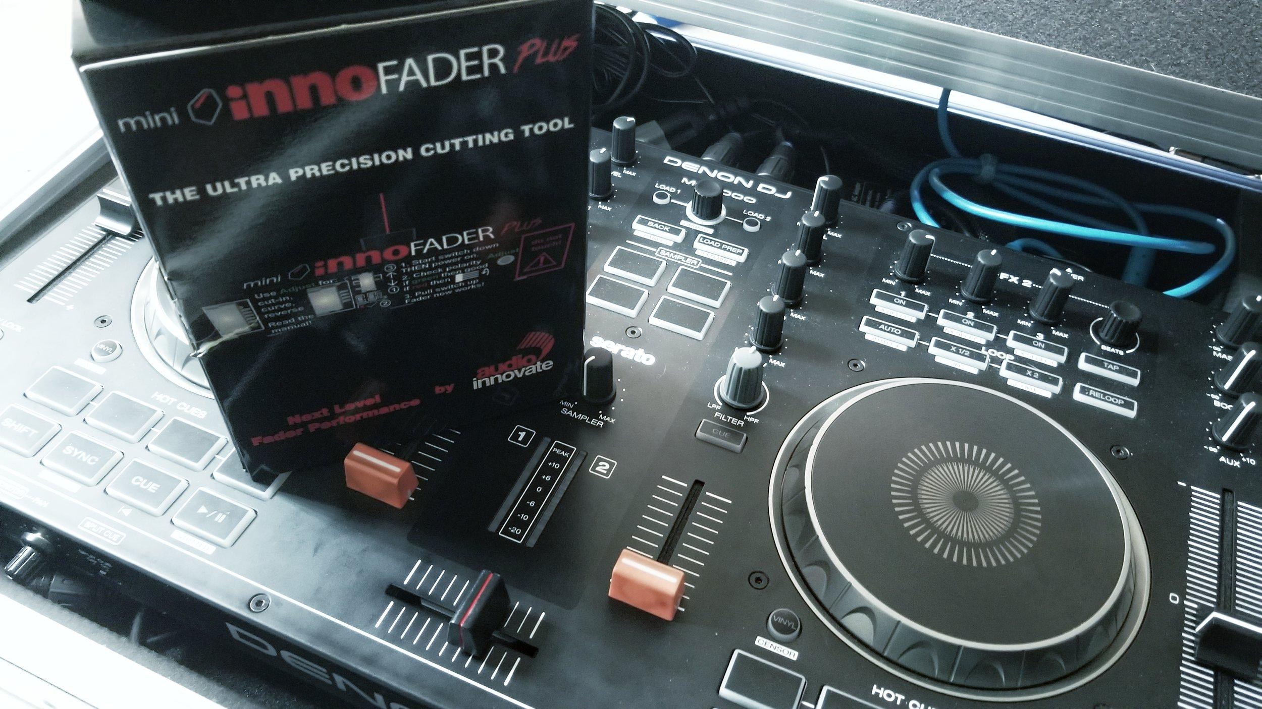 The Mini Innofader Plus is the perfect crossfader install into a Denon MC4000.