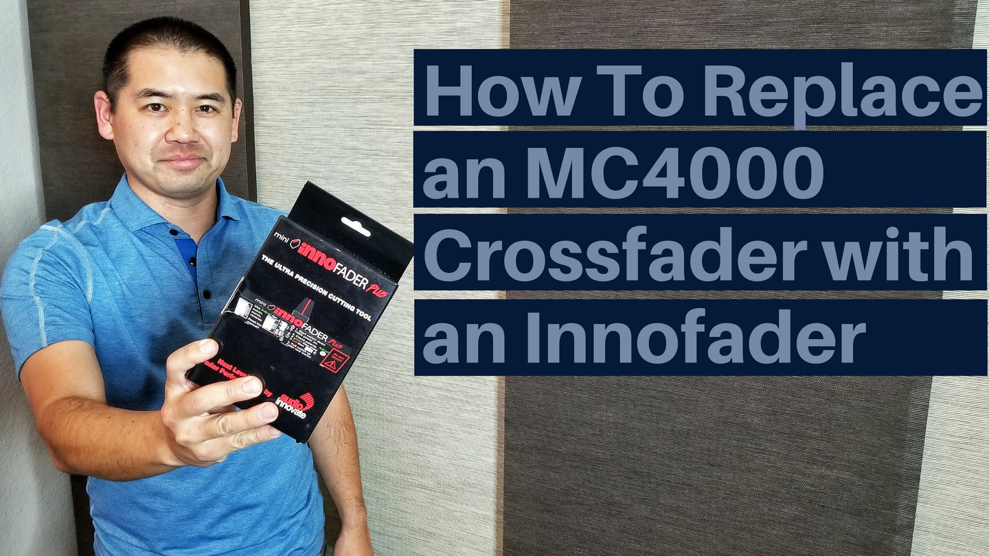 San Diego DJ, Justin Kanoya, shares his tips on replacing the stock crossfader on a Denon MC4000 with a Mini Innofader Plus.