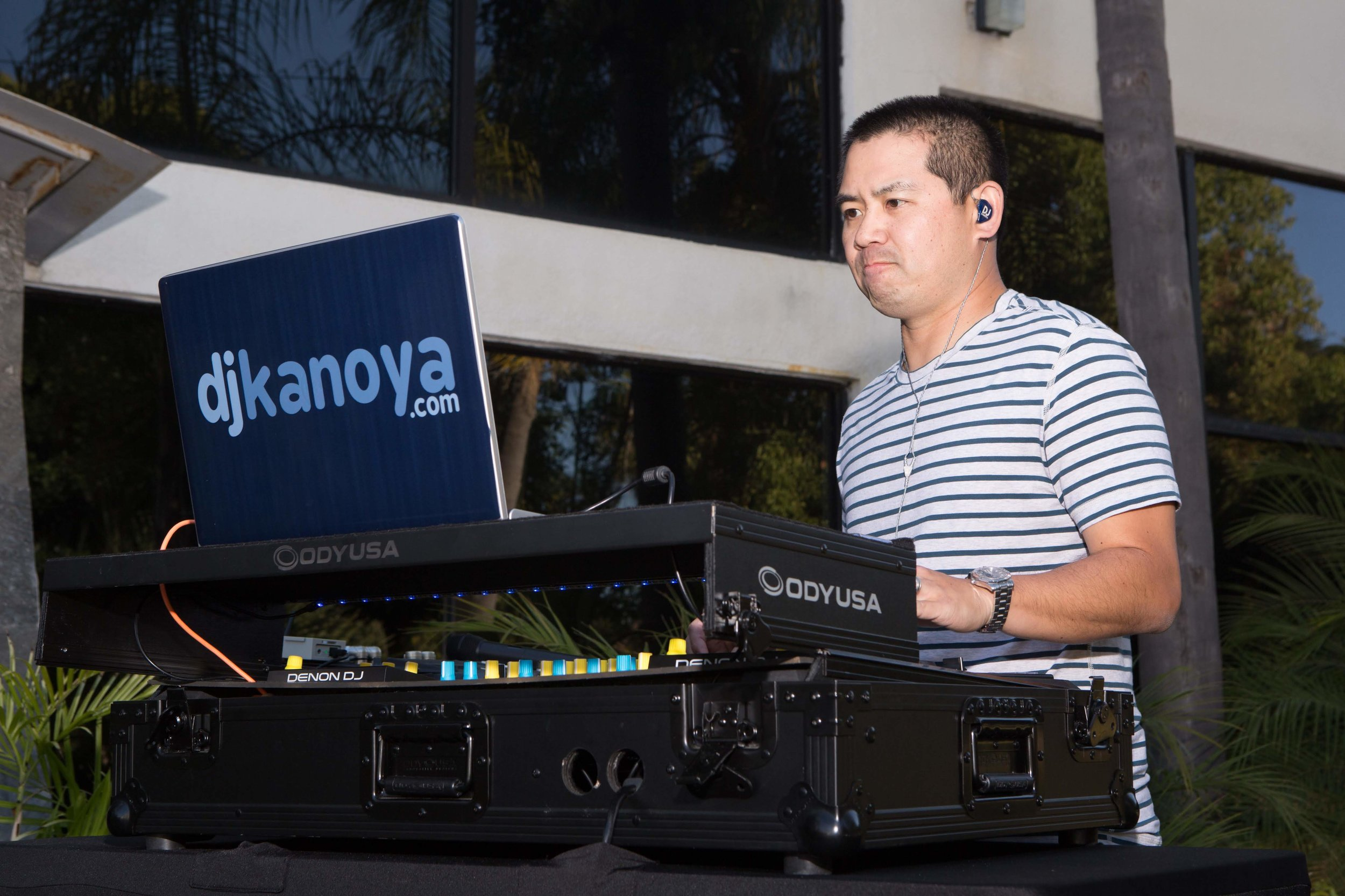 DJ Justin Kanoya spins at the 2018 Taste of Asia.