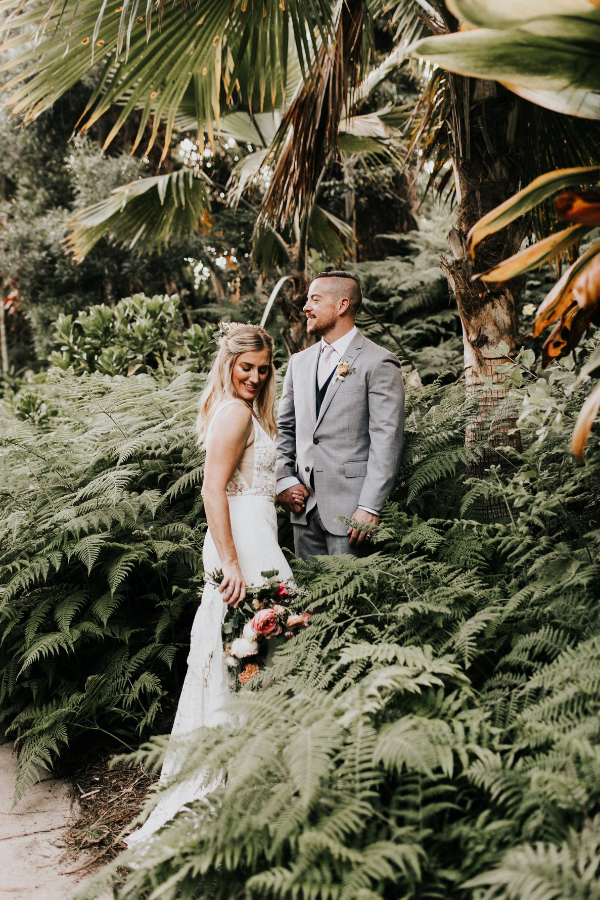 Ian and Betsy were married at the San Diego Botanic Garden on July 20, 2018