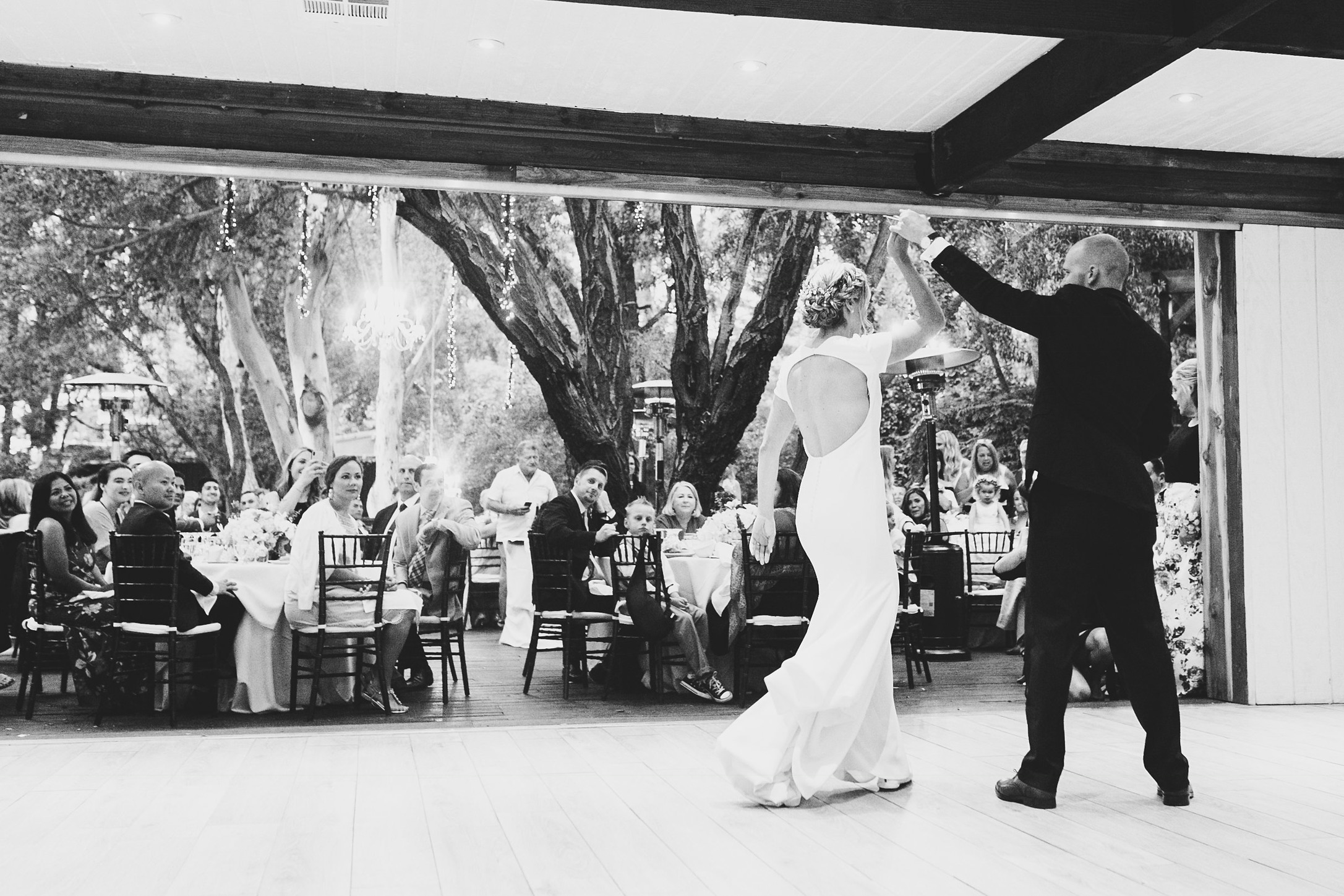 Kori and Joey's first dance at their Calimigos Ranch Wedding.