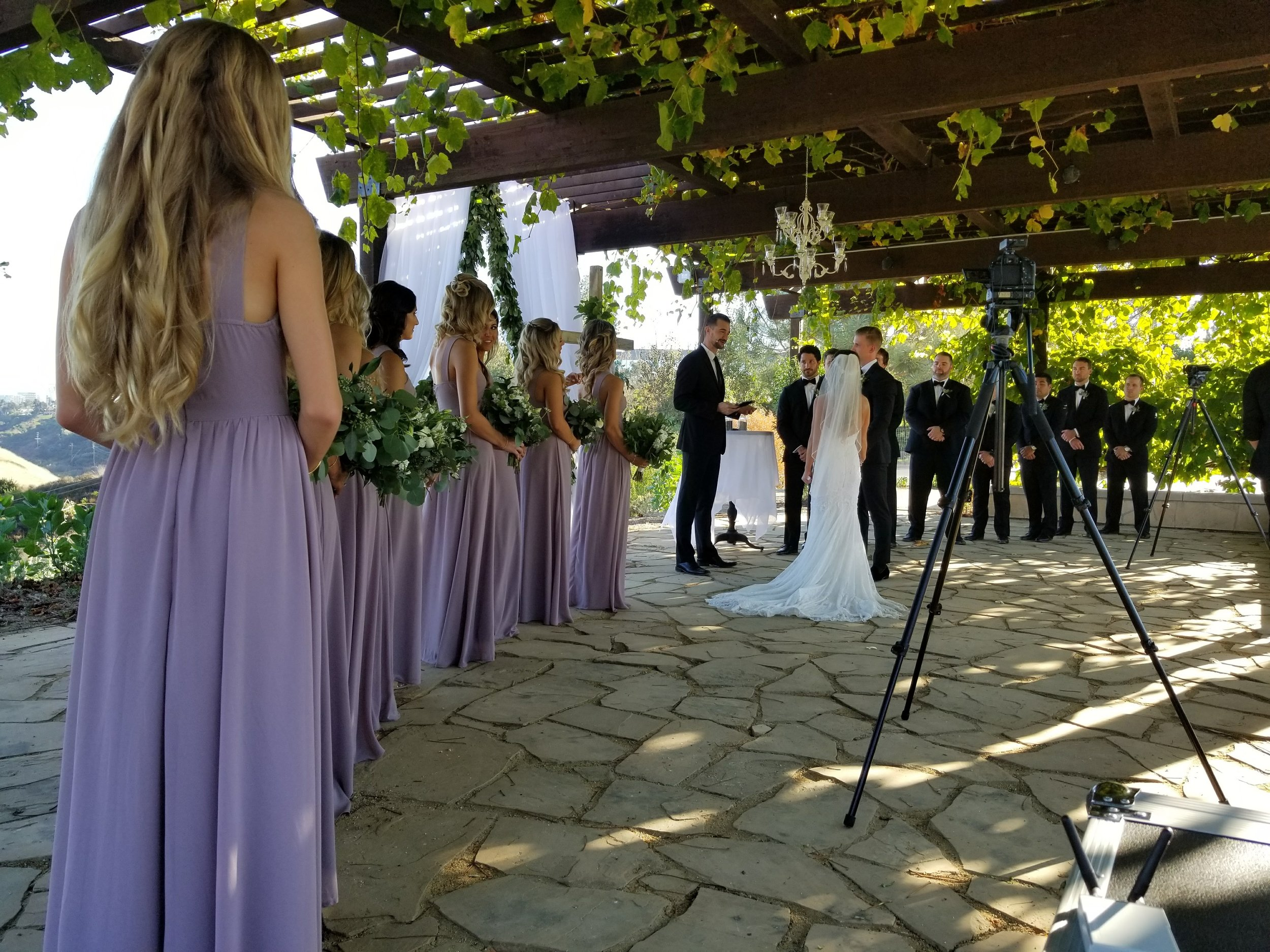 Courtney and Nick's ceremony at Green Acre on October 7, 2017.