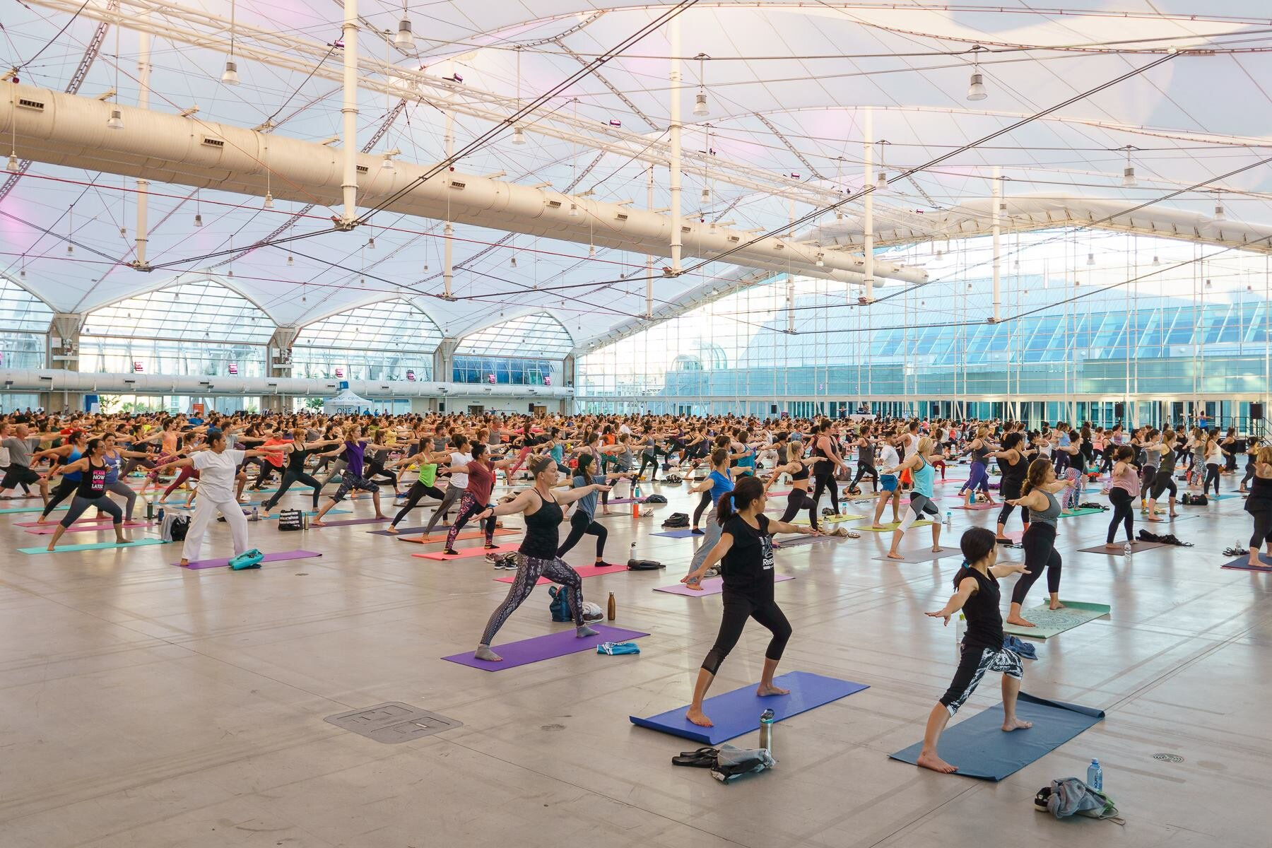Sunset Yoga Under The Sails took place on August 29, 2018 at the San Diego Convention Center.