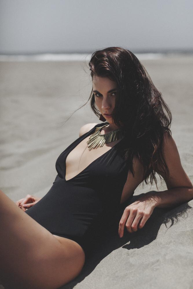 JENNIFER SKOG swim wear editorial with model Kendra Lee