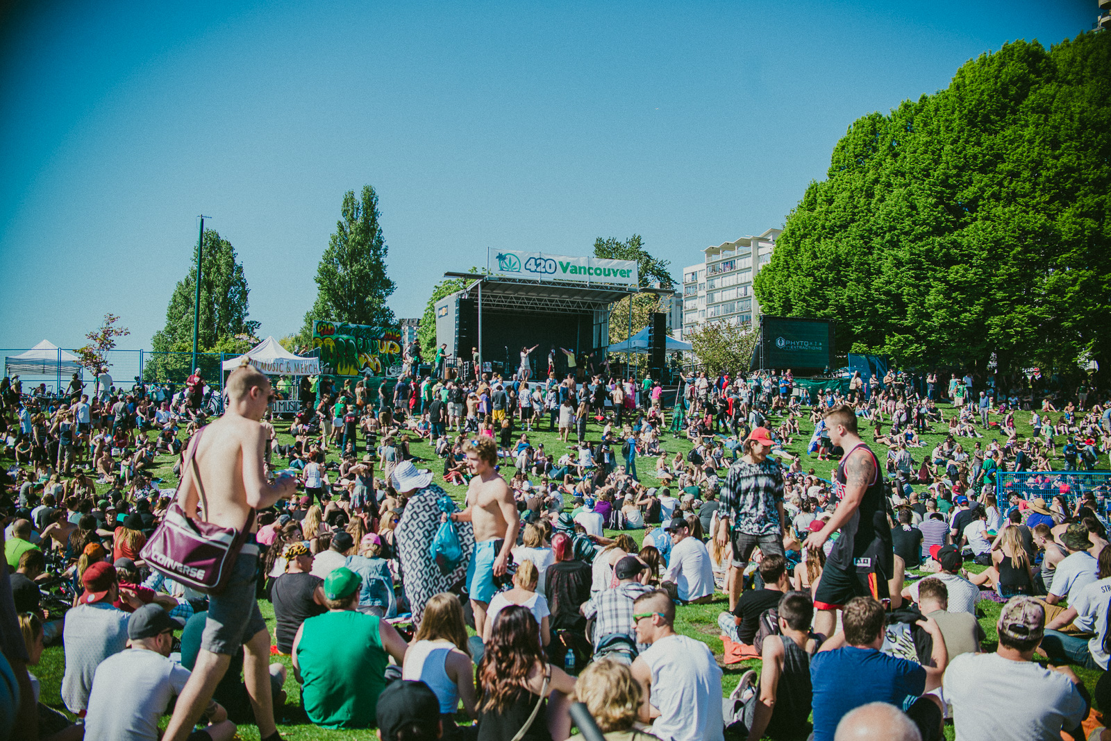 An estimated 25,000 - 50,000 people ended up showing for Vancouver's annual 420 event.