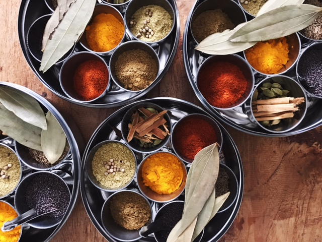 Turmeric, chilli, mustard seeds, cumin seeds, cinnamon... this is our medicine chest!