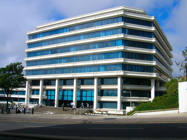 Amex House (The Wedding Cake Building), Brighton, UK