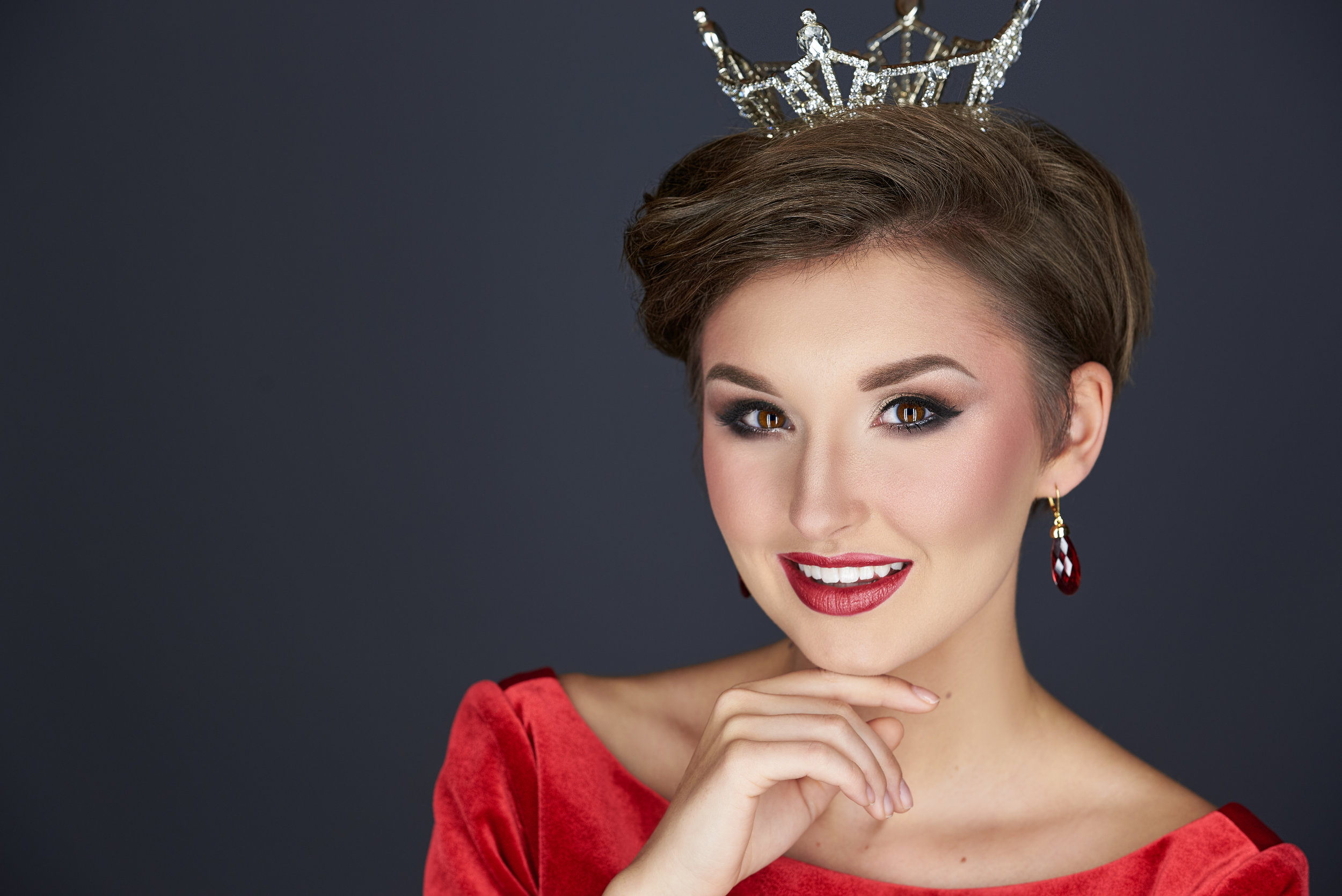 Pageant crown headshot