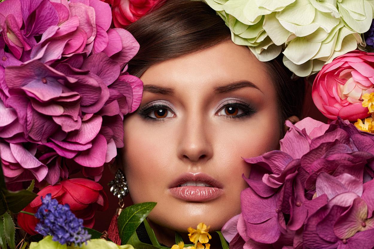 Flower Fashion Portrait