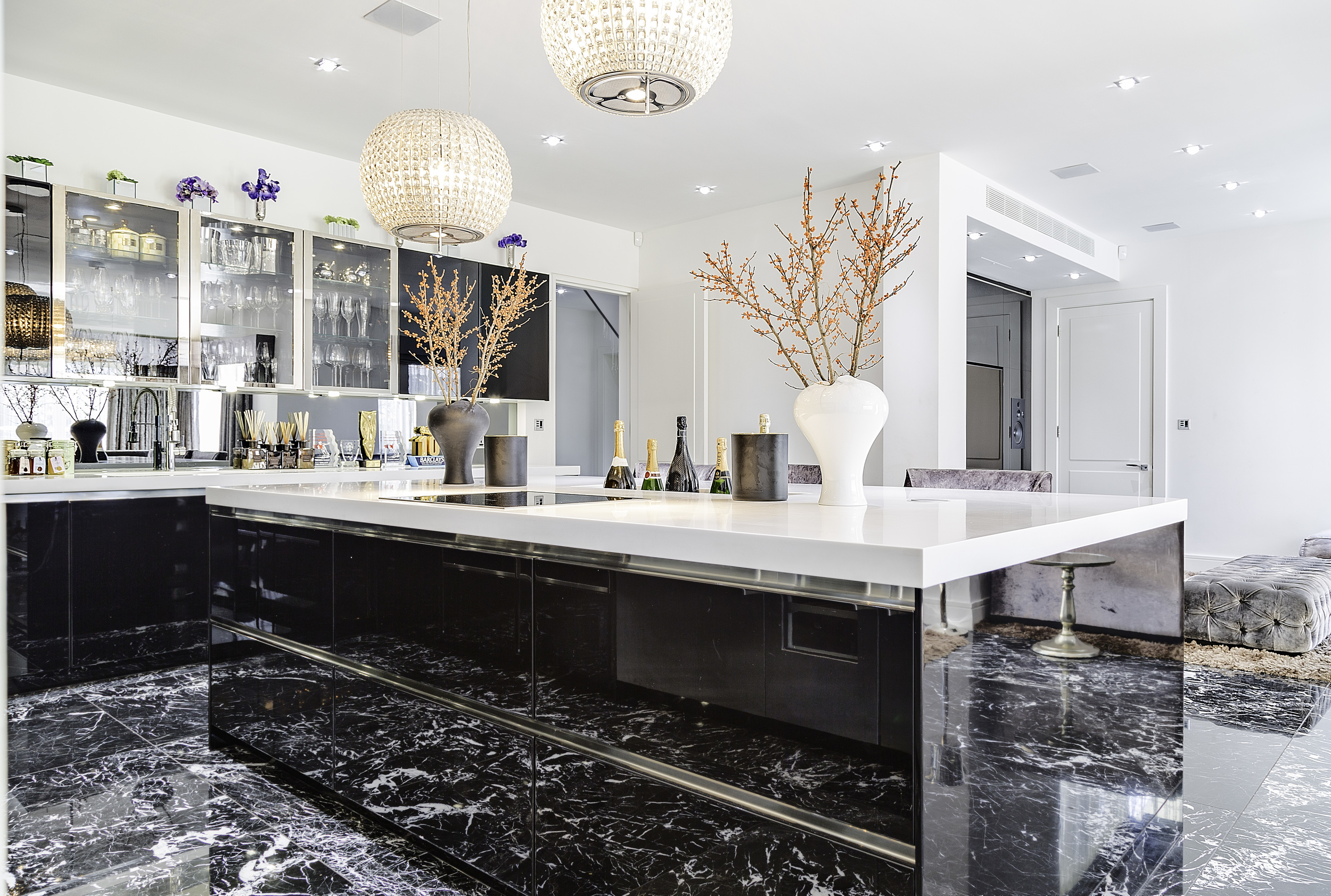 Hampstead, London, high-gloss kitchen table