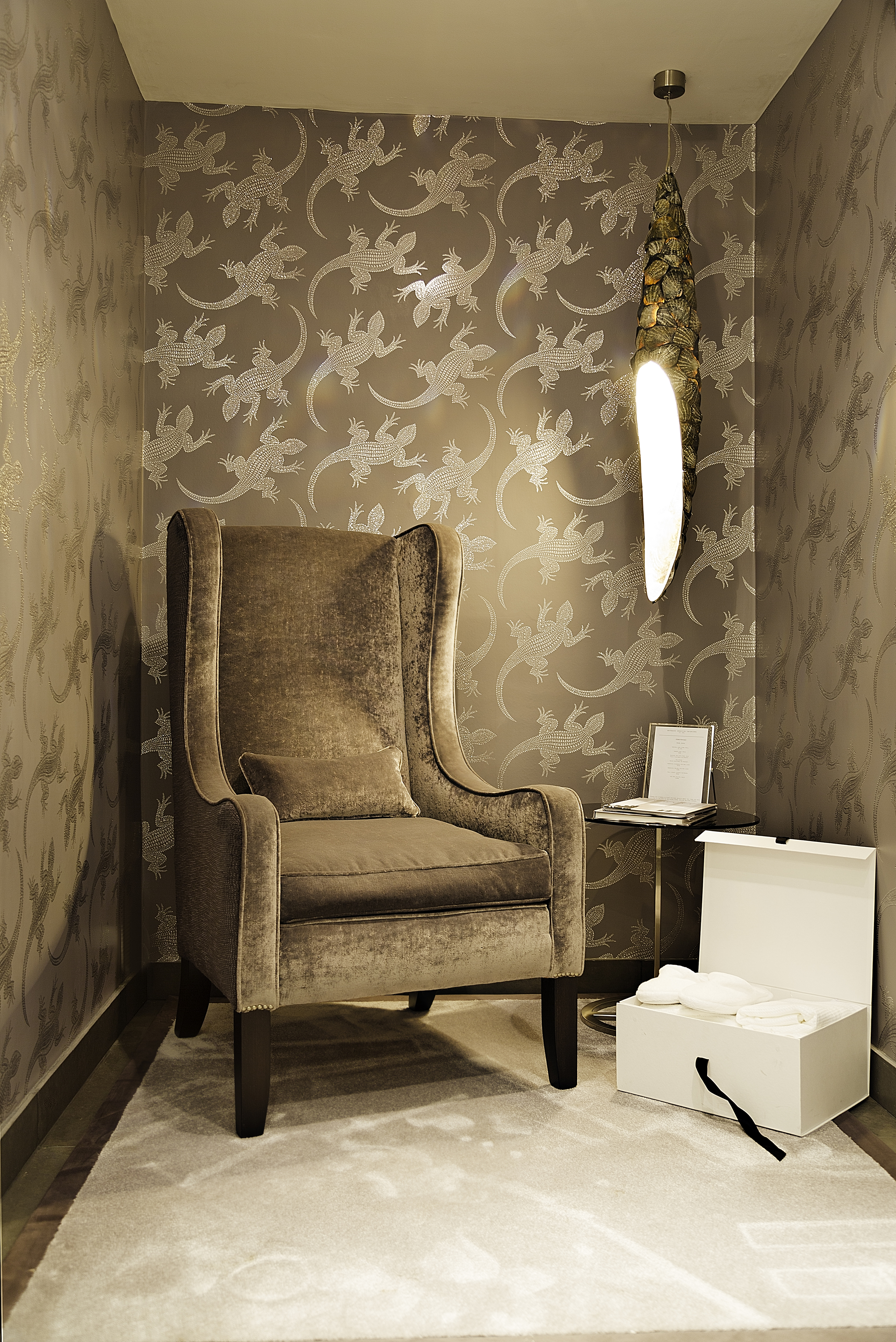 Designer chair in study