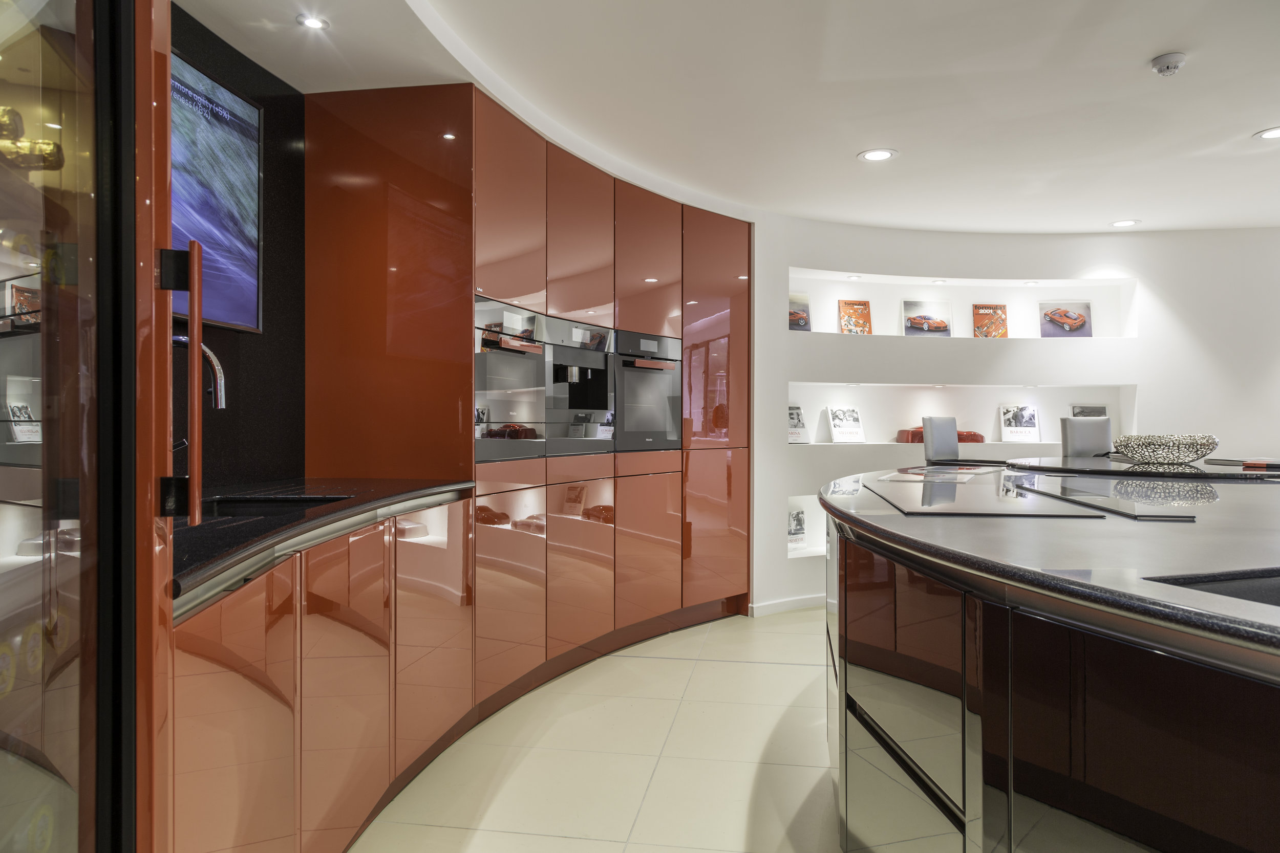 Stratstone Ferrari Wilmslow cabinets