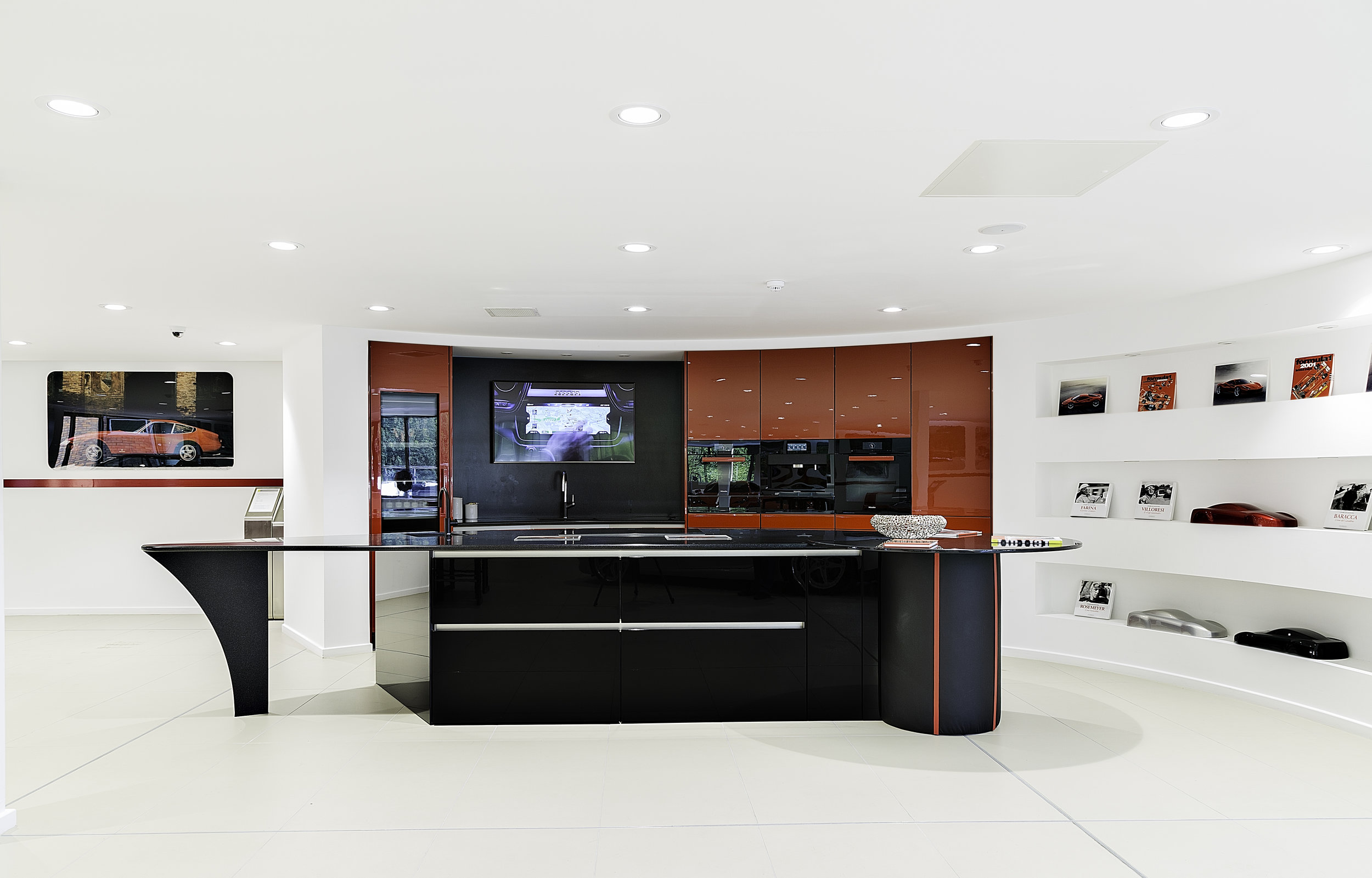 Stratstone Ferrari kitchen wide view