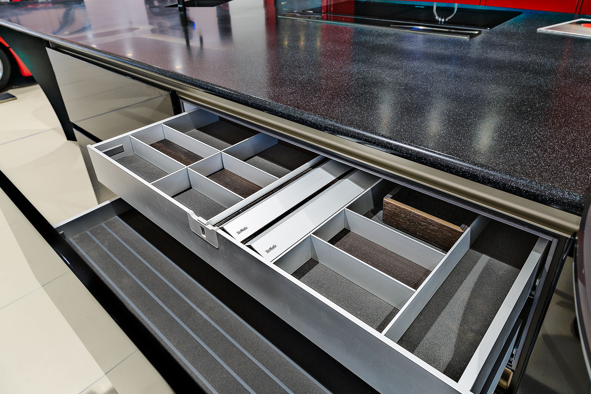 SieMatic cutlery drawer detail